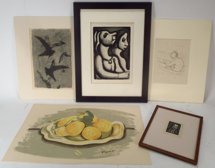 Five Modern Prints: After Braque, Bonnard, Rouault