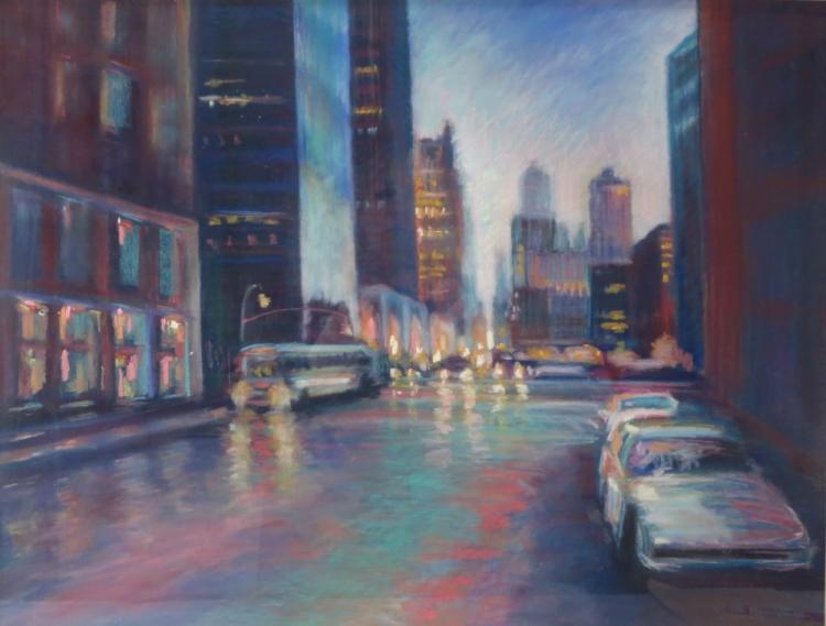 Sandra Rubel, Am., 1945-2015, NYC w/Bus