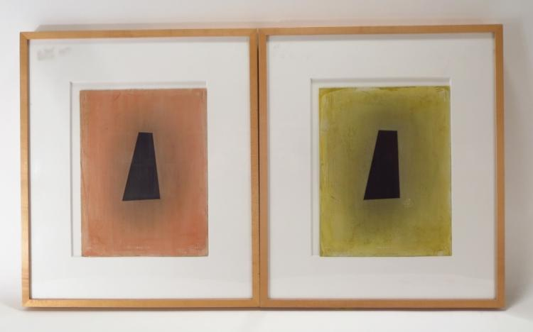 Robert Peterson, 1943-2011 Abstract Keyhole Mixed Media / Paper 1998