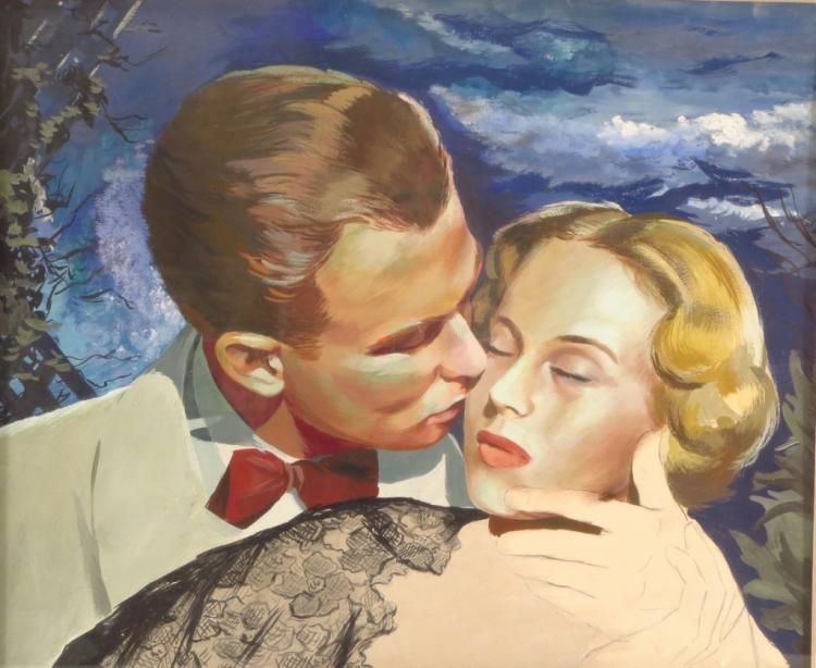 American School, Midcentury, Romance, Mixed Media