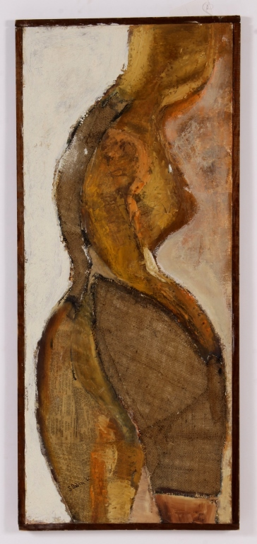S. Sabin, Am., mid-20th, Mother, Mixed Media, 1962