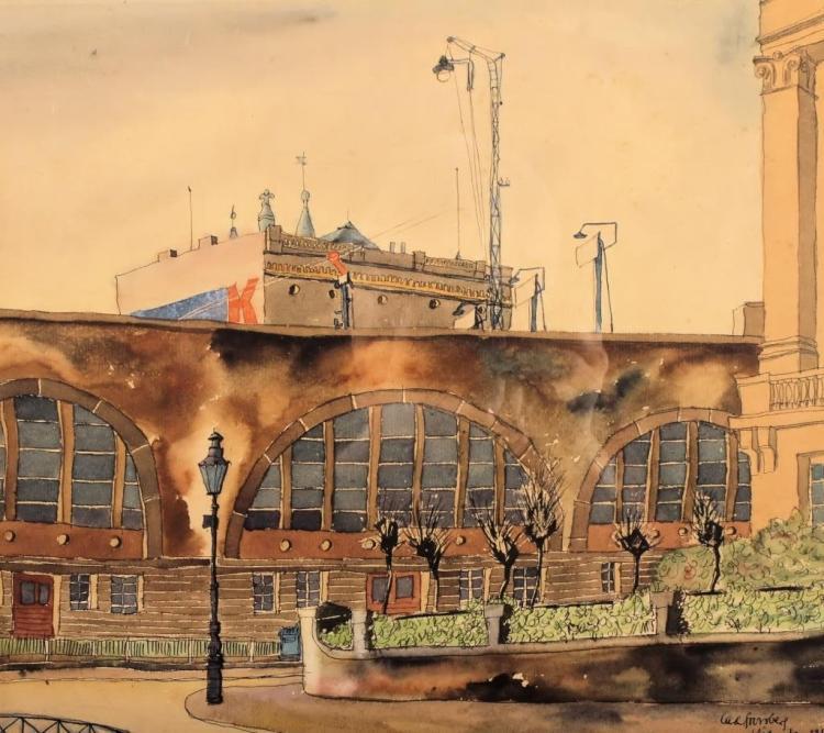 Carl Grossberg, 1894-1940, Watercolor