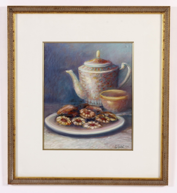 Sandra Rubel, Am., 1945-2015, Teapot/Cookies