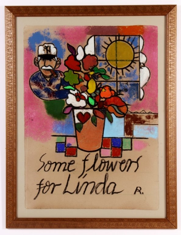 American School, 20th C., Flowers for Linda, P/P