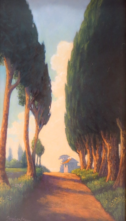Four Works of Cypress Trees, 20th