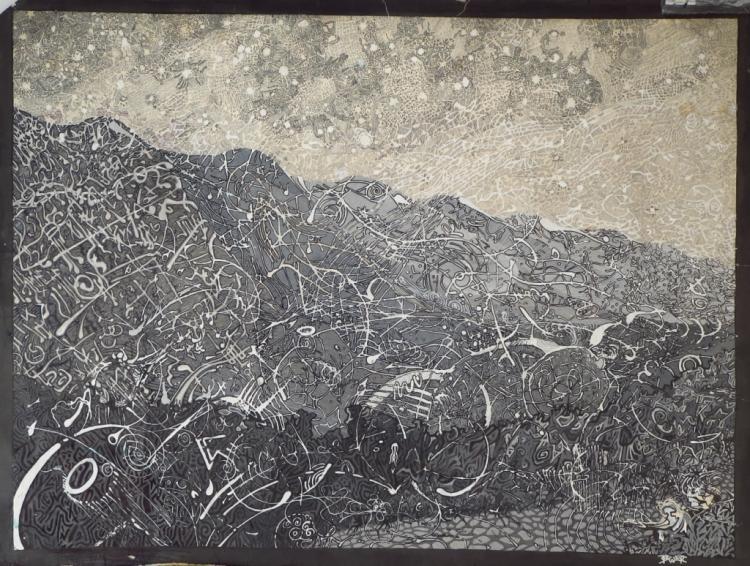 Steve Calver, Street Art Style Watercolor, Signed