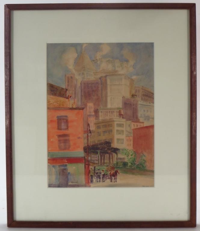 Reginald Marsh, Am., 1898-1954, NYC, 1929, W/C