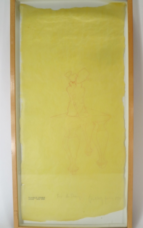 Ronald Jones Untitled Pencil Drawing 1990