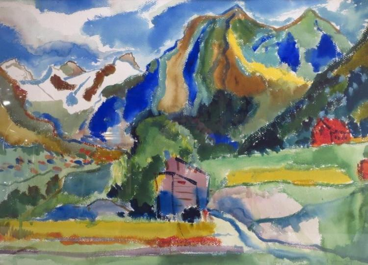 P. Lipmann-Wulf Watercolor