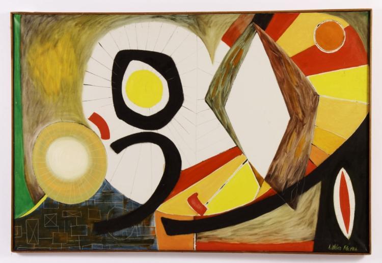 Arnold Weber, Am., Abstract Orbs O/C
