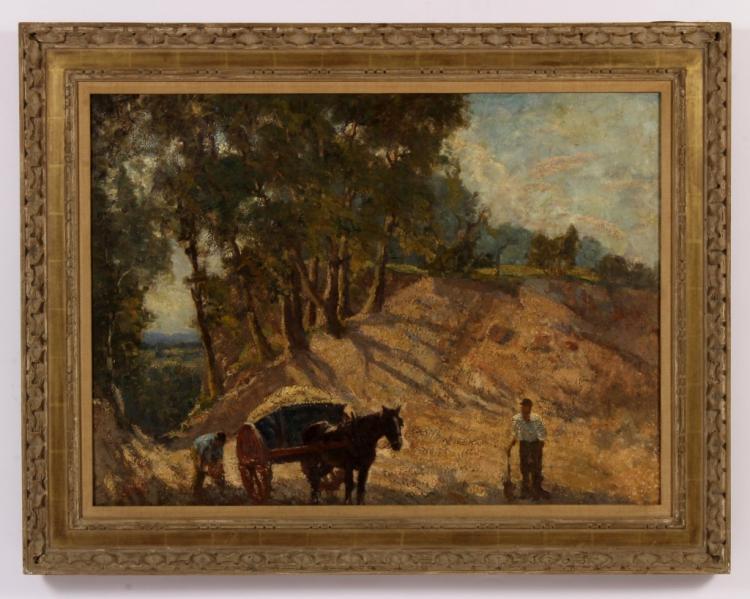 Edw Lintott, Brit-Am., 1875-1951, Harvest, O/C