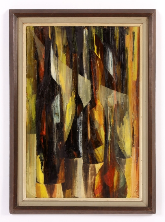 Alfred Rohde, Am-TX,  Abstract Verticals, O/B, '58
