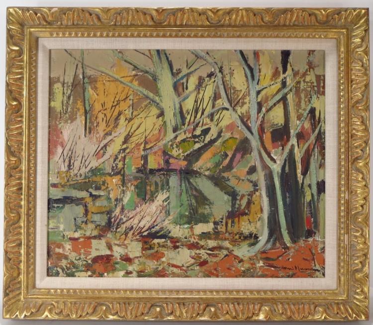 Henri Masson (1907-1996) Landscape O/C 20th C.