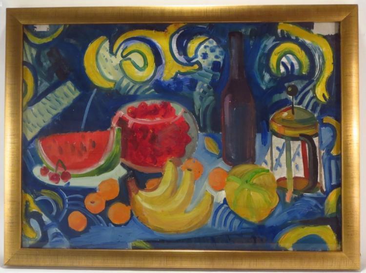 Bela Czobel, Hun.,1883-1976, Still Life, Gouache