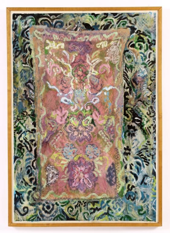 Arnoud Kool Abstract Floral Acrylic & Spray 1990