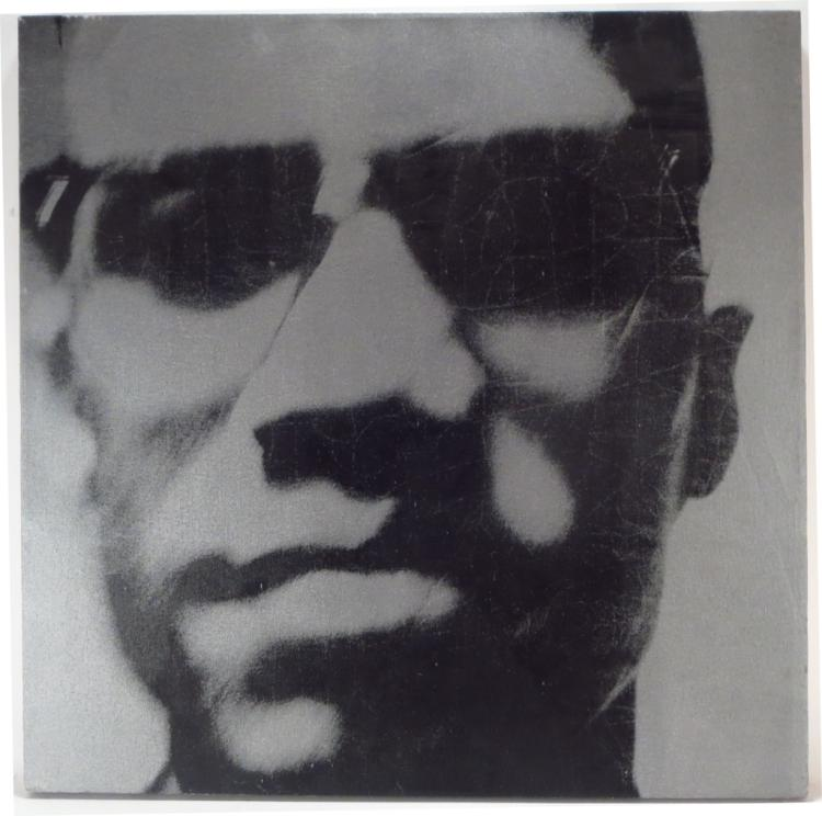 Silkscreen on Canvas Portrait of Malcolm X 2008