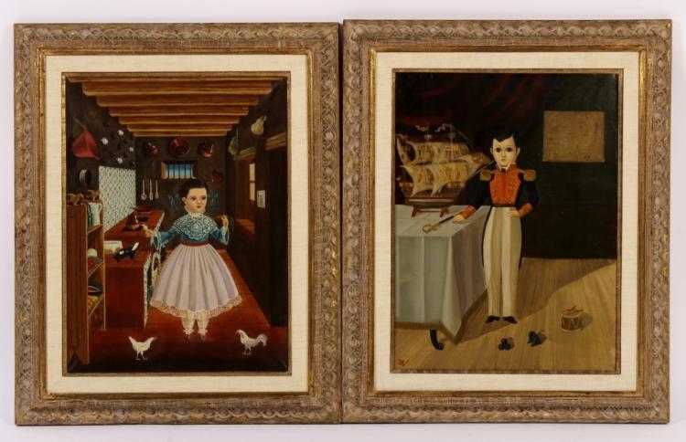 Agapito Labios, 2 O/C Paintings of Children