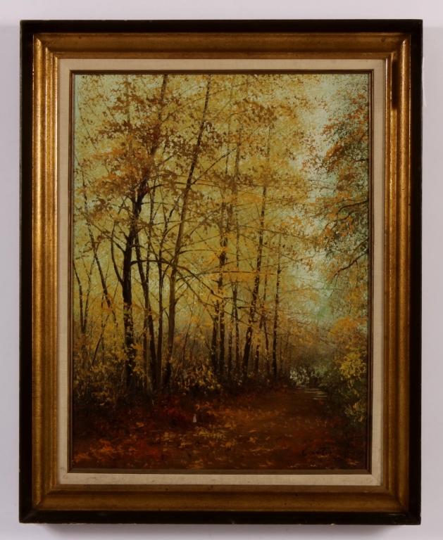 Am. School, Autumn Foliate Landscape, o/c