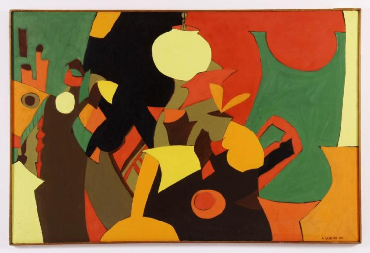 Arnold Weber, Am., Abstract Potted Plants O/C