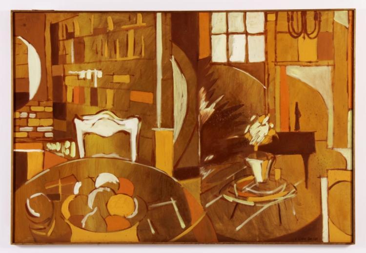Arnold Weber, Am., Interior w/ Fruit O/C
