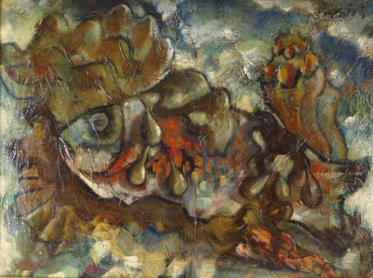 Waldo Peirce, Am.,1884-1970,Fish & Kelp, 1940, O/C