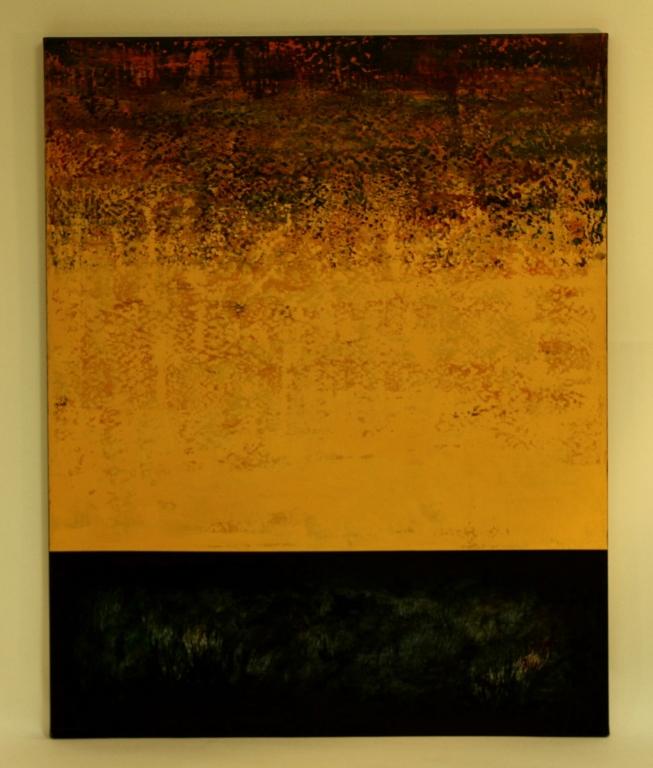 Dan Namingha Hopi Desert Dawn O/C 2001