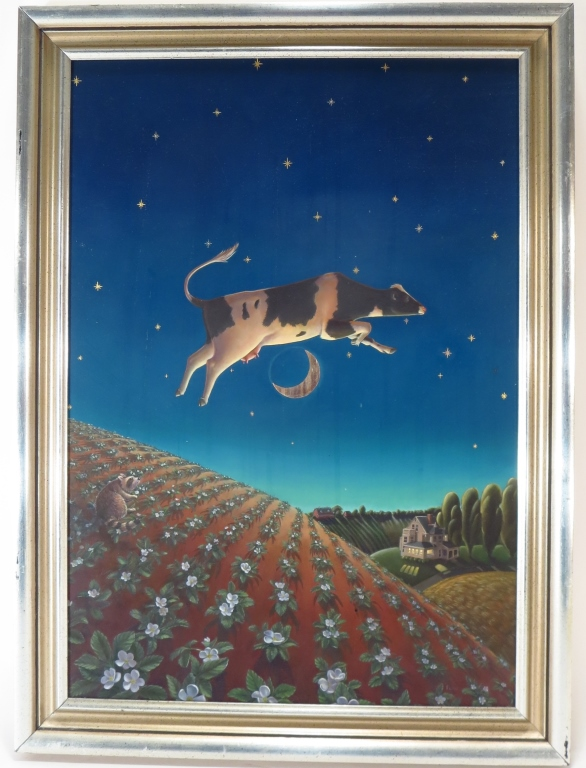 Lorena Pugh,Am.,20th C.,The Cow Jumped Over the Moon