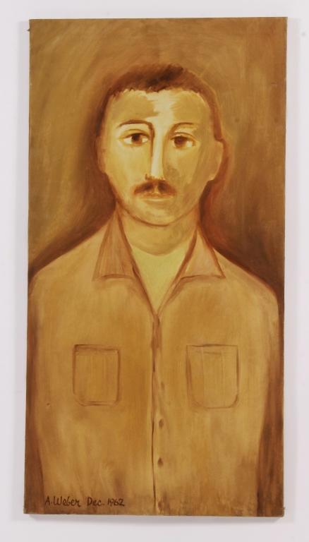 Arnold Weber, Am., Man w/ Mustache O/C