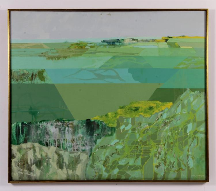 Libby Momberg,1930-2009, Abstract Landscape, O/C
