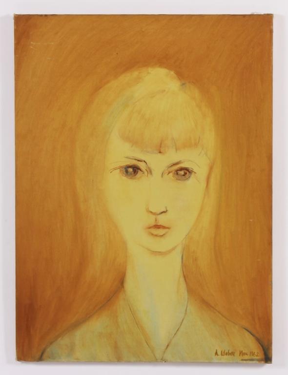Arnold Weber, Am., Portrait of Girl O/C