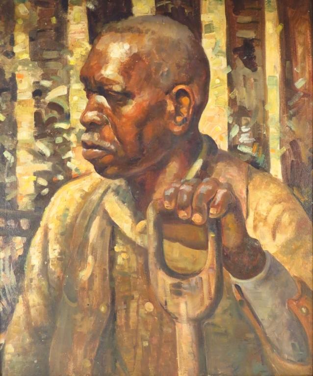Reid Crowell African American Portrait O/B 20th C.