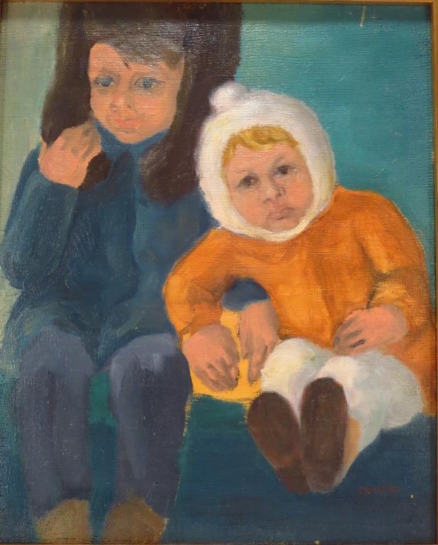 Raymond Kanelba, Polish, 1897-1960, 2 Chidren, O/B