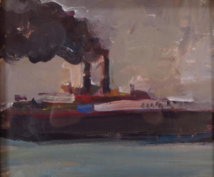 Robert D'Arista, Am. 1929-1987, Ferry Boat, O/B