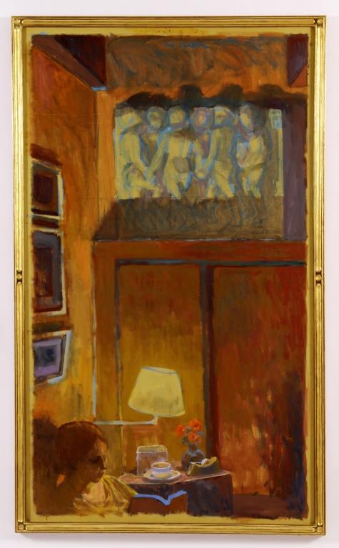 Joe Lasker (Am. 1919-2015) Della Robbia O/C 20th C