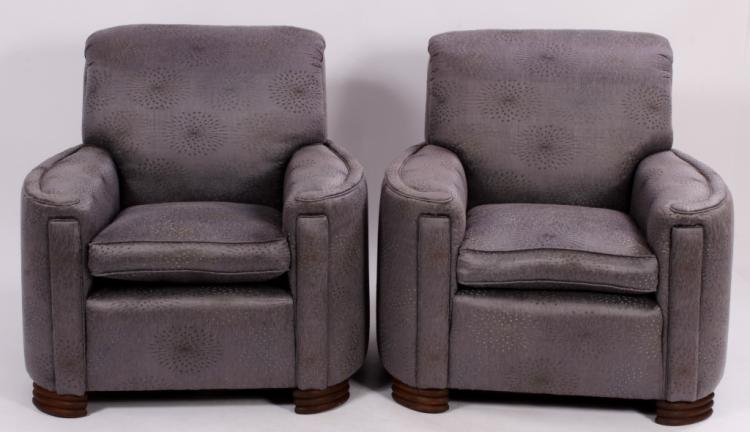 Pair of Art Deco Club Chairs C. 1930