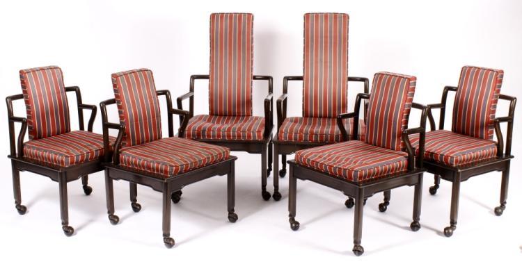 6 John Whiddicomb Mid Century Modern Dining Chairs