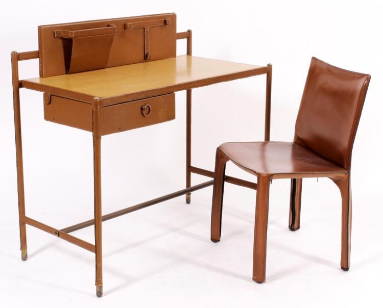 Jaques Adnet, Fr., Modernist Desk for Hermes