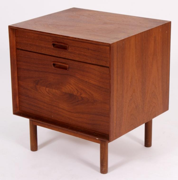 Mid Century Modern Danish Teak Cube Cabinet