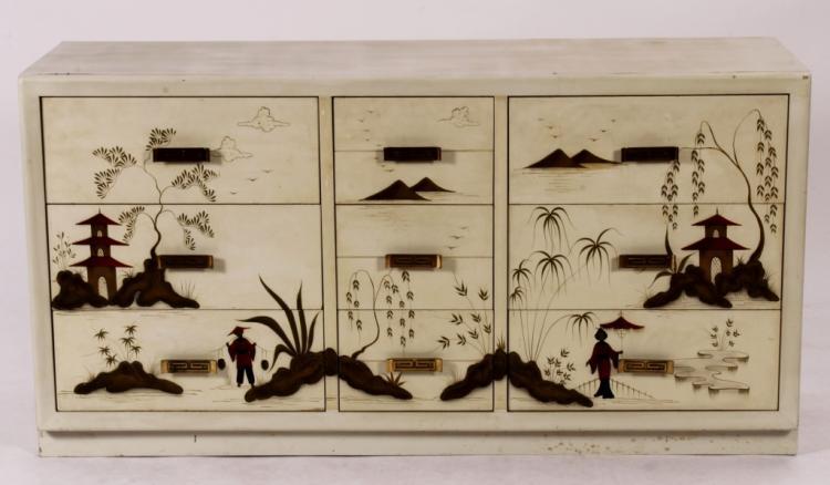 Romweber Asian Style 9 Drawer Dresser