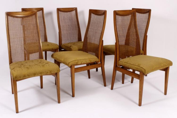 6 Drexel Heritage Mid Century Modern Dining Chairs