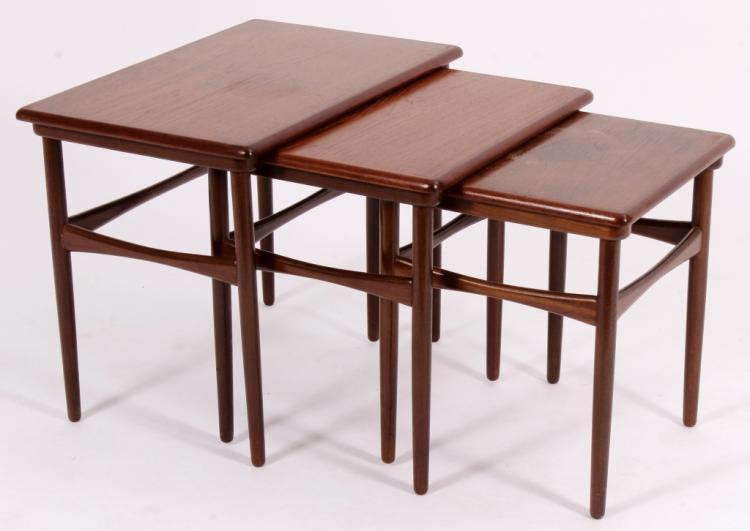 Mid Century Modern Danish Nesting Tables