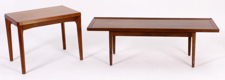 Drexel Cocktail Table & Danish Teak End Table