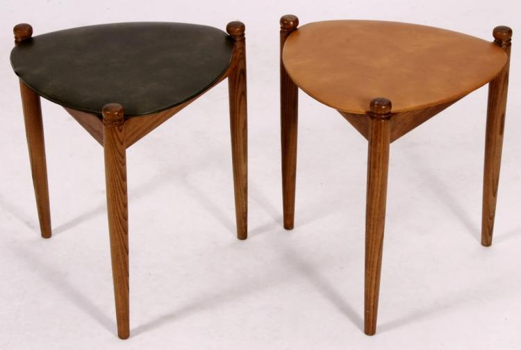 Two Modern Mid-Century Side Tables 20th C.