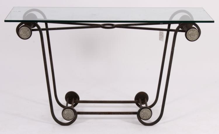 Metal Neoclassical Style Console Table