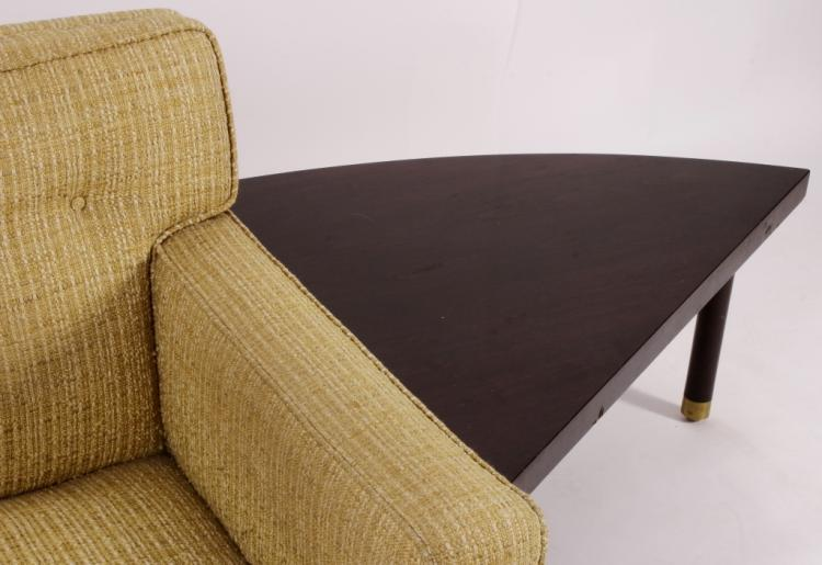 Modernist Sofa with Accompanying End Table
