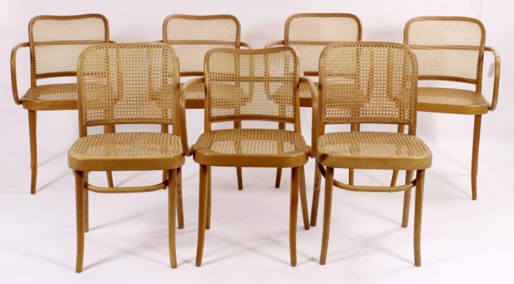5 Thonet  Arm Chairs by Stendig, with 2 Side Chair