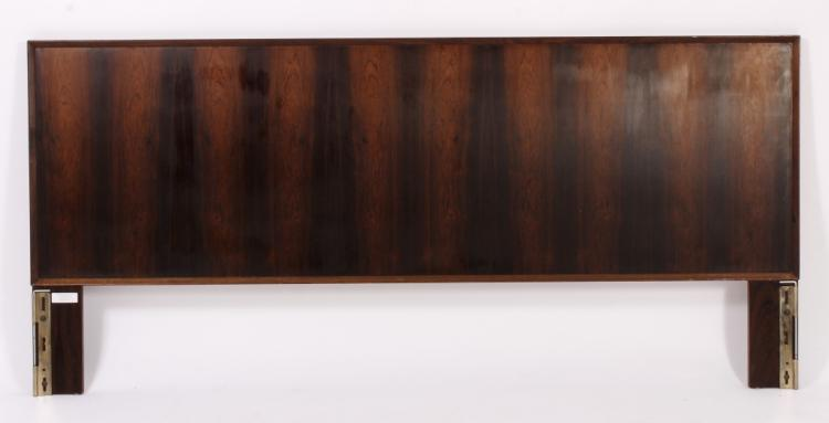 Danish Modern King Size Rosewood Headboard.