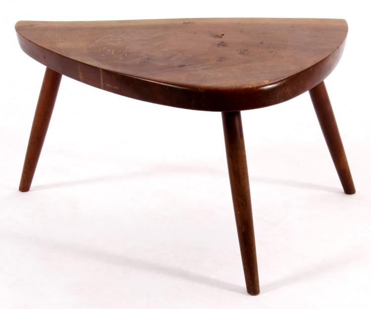 Nakashima Style Tripod Wood Low Table,20th