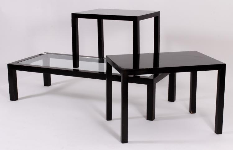 3 Parsons Style Wood Tables,20th