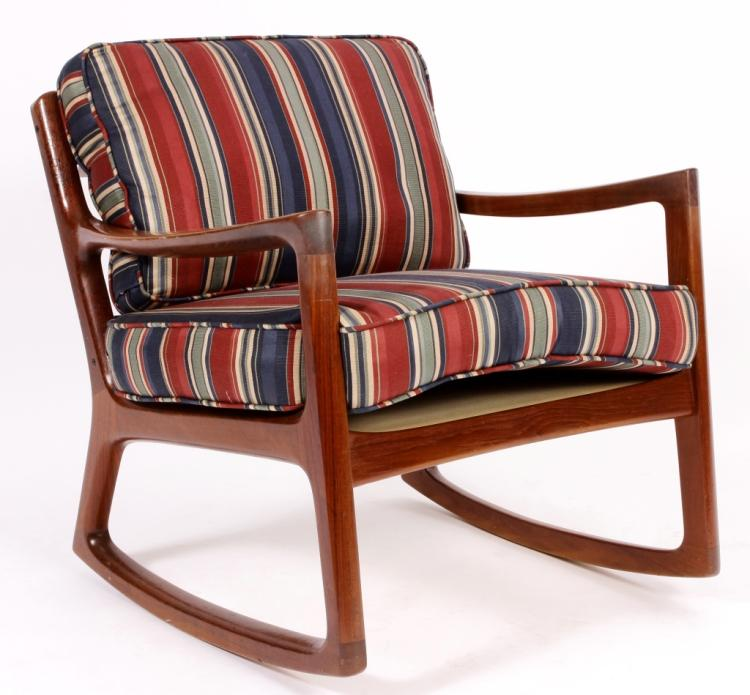 Ole Wanscher Danish Modern Teak Rocking Chair